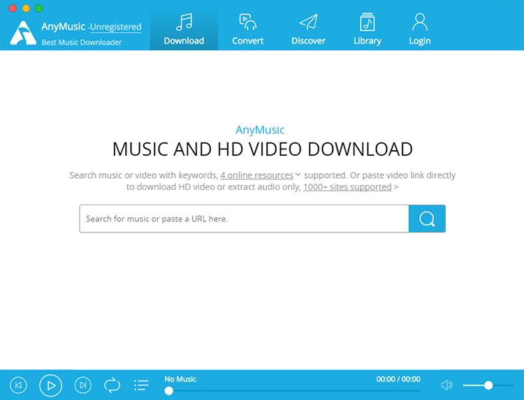 AnyMusic MP3 Downloader for Mac Screenshot