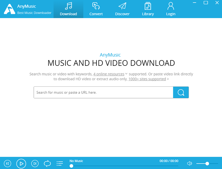 AnyMusic MP3 Downloader for Windows Screenshot