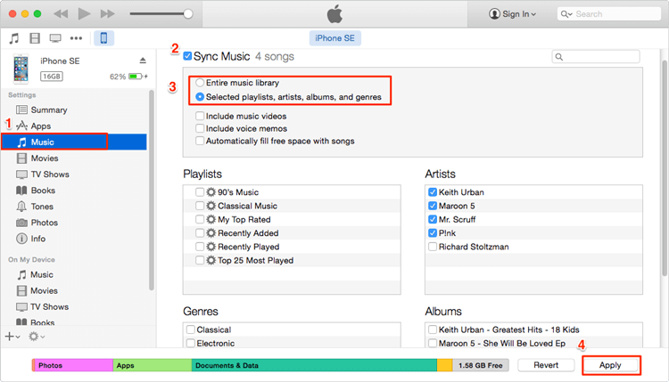 add mp3 to iphone with itunes