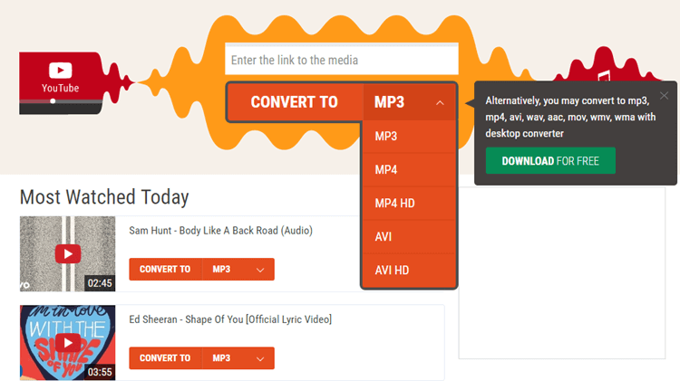 Best 5 Flvto Alternative to Convert YouTube to MP3
