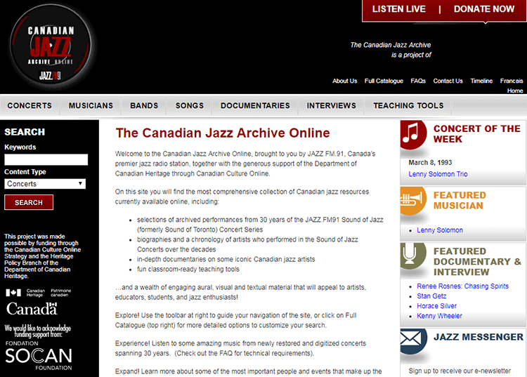 Canadianjazzarchive