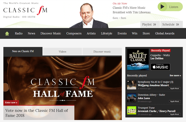 Top 10 Online Classic Music Radio Stations