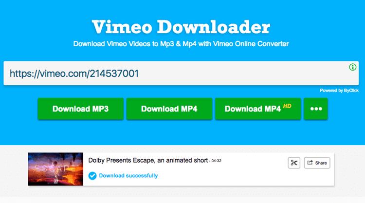 download vimeo music to mp3