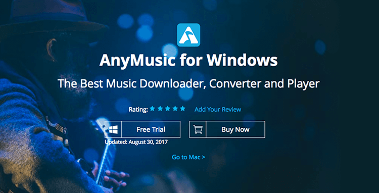 AnyMusic Homepage