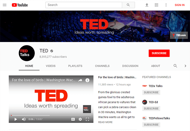 TED channel