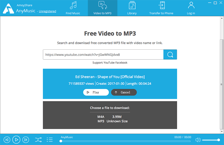 Download YouTube to MP3 - AnyMusic