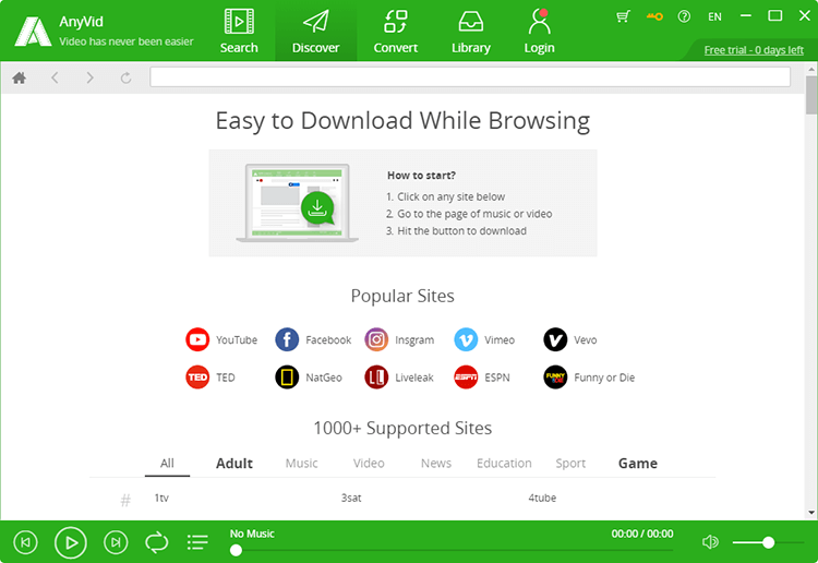 easy to download while browsing