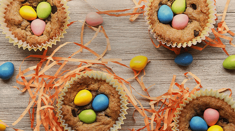 Easter cookie cups