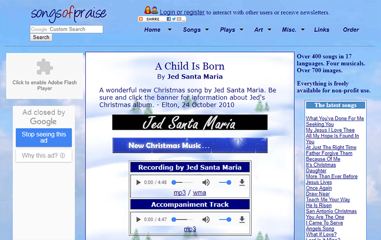 Get free download Christmas songs