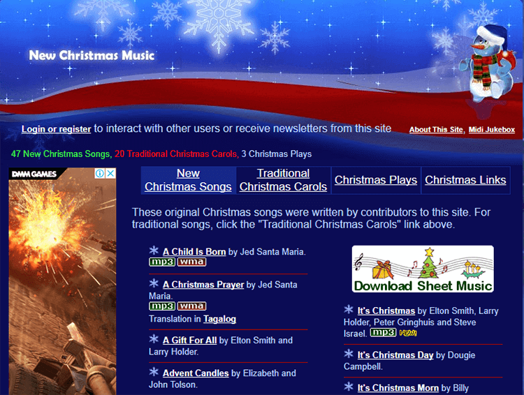 Song of Praise was created by Elton Smith. It has a nice collection of free Christmas music, but some of the free Christmas music that's only available for ...