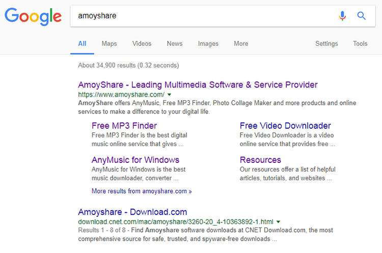 Search AmoyShare on Google