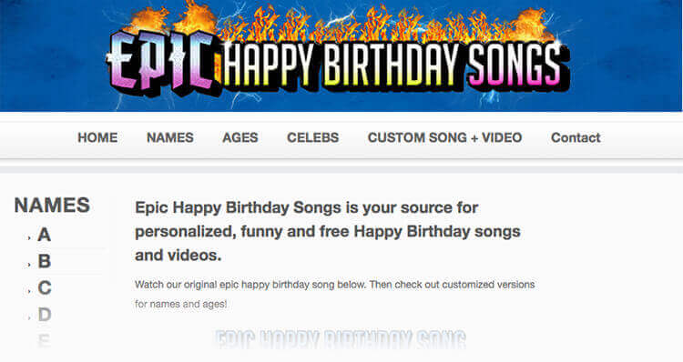 All Birthday Songs On Epicbirthdays Are Original Forget About The Common Happy Greeting That Will Bore Your Friends And Loved Ones