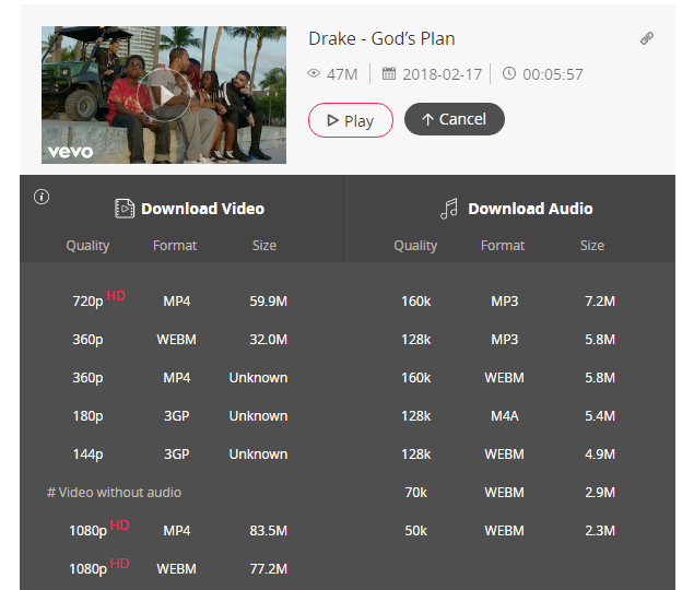 Download Vevo music