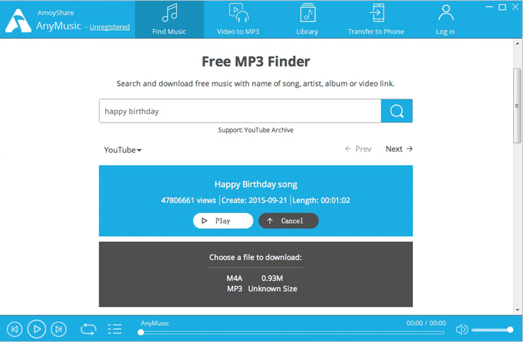 download free mp3 with AnyMusic
