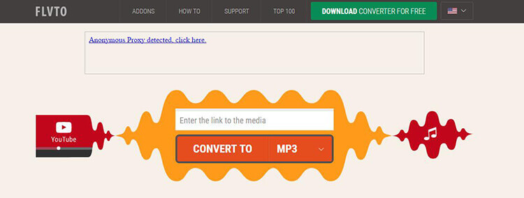 Online YouTube to MP3 Converter with Flvto