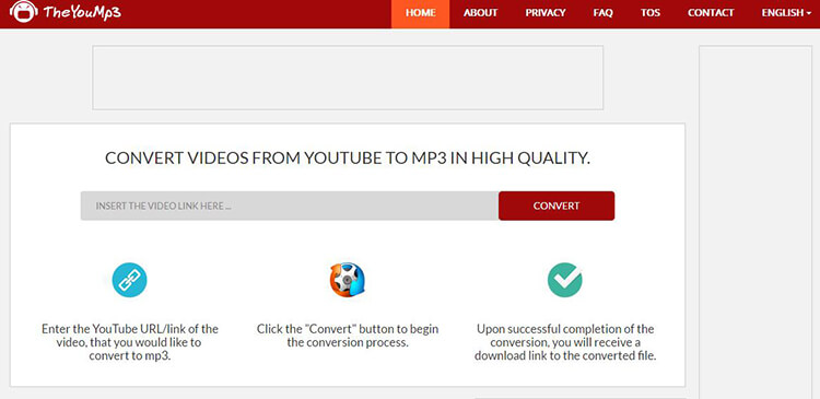 Online YouTube to MP3 Converter with TheYouMp3