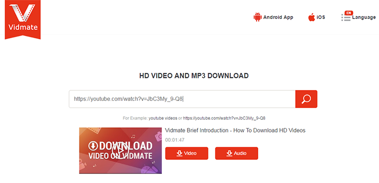best YouTube to MP3 with KeepVid