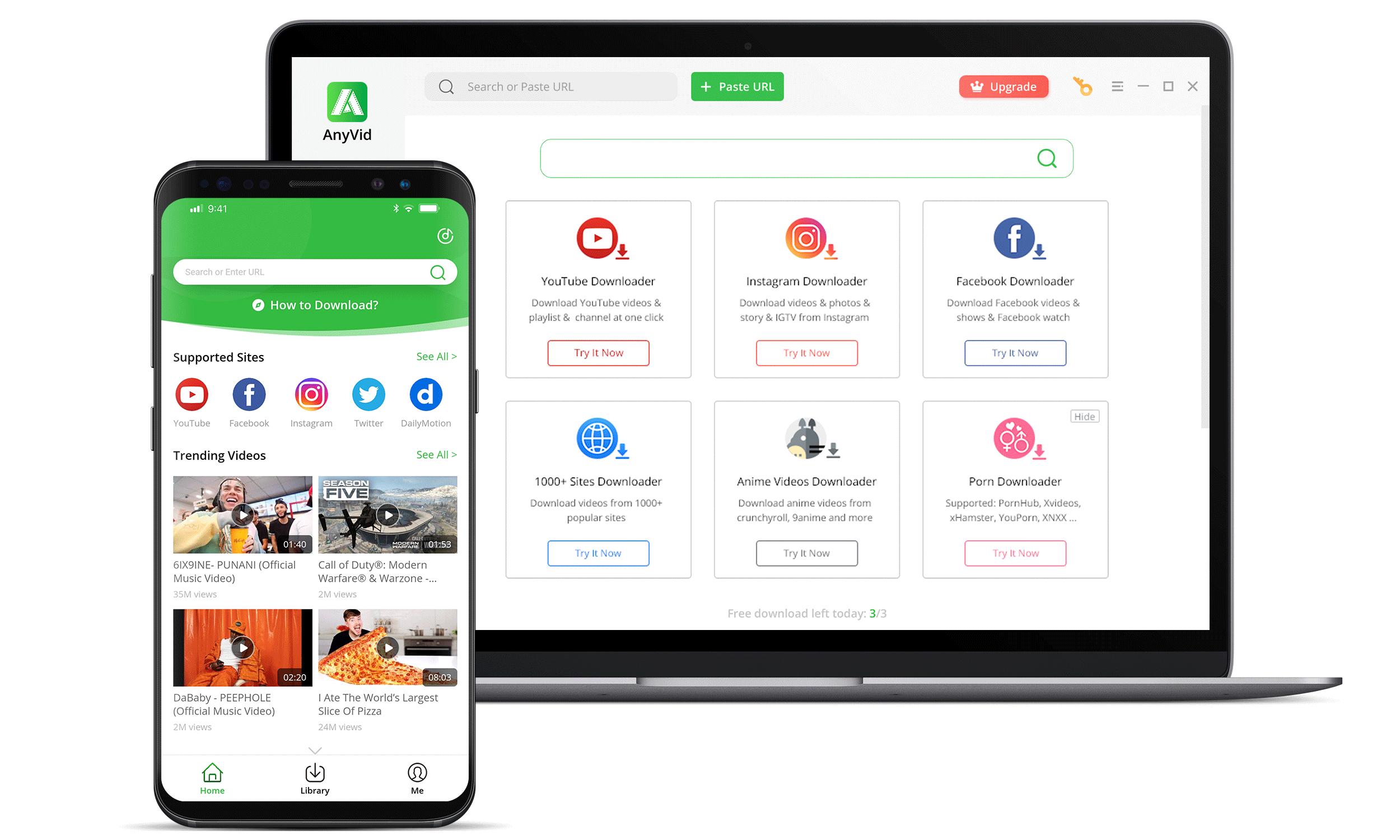 AnyVid für PC und Android