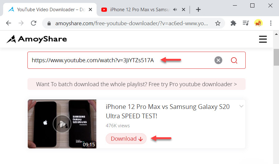 Save YouTube videos with Free YouTube Downloader