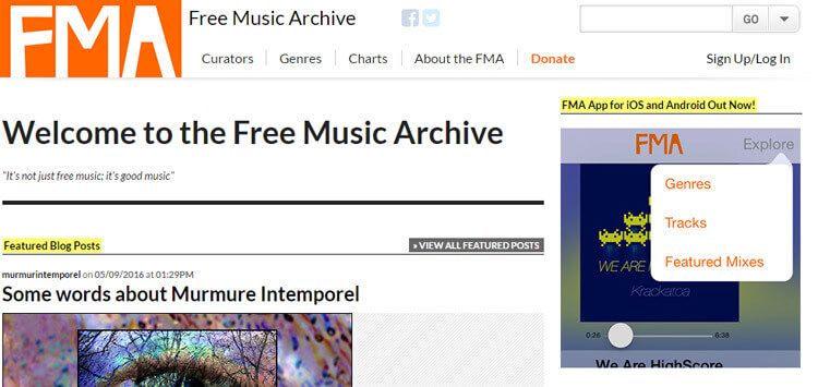 music download archive free