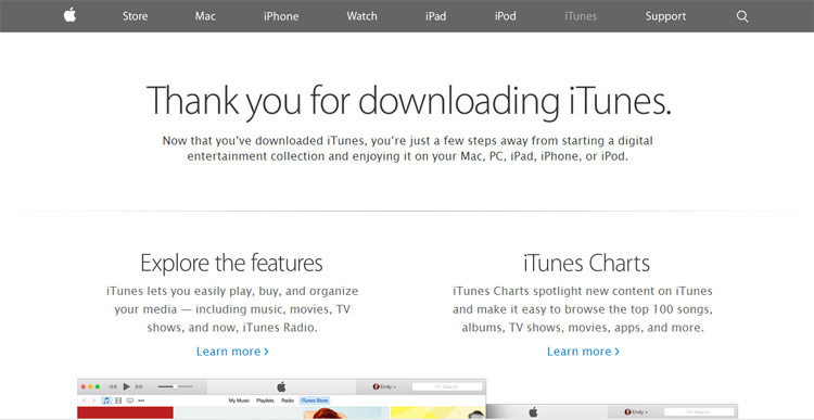 Picture 1- Download latest iTunes