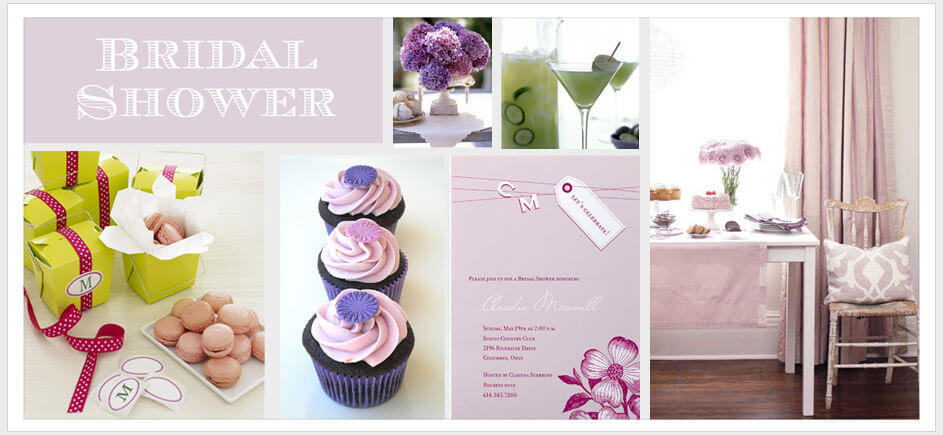 bridal shower cards banner