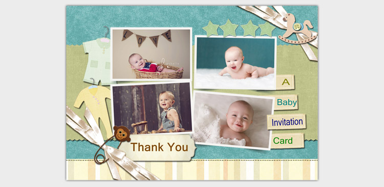 Create a Baby Shower Card pic