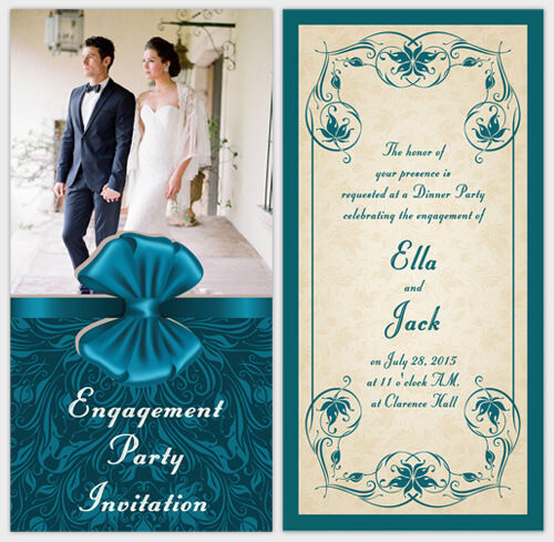 Invitation For Engagement Party Was Awesome Invitation Template  Engagement Card Template