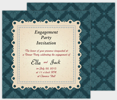 Engagement Party Ideas With Free Invitation Cards Amoyshare