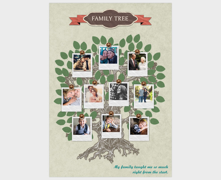 family tree photo card making