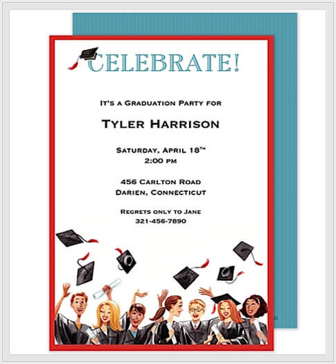 graduation party invitations banner