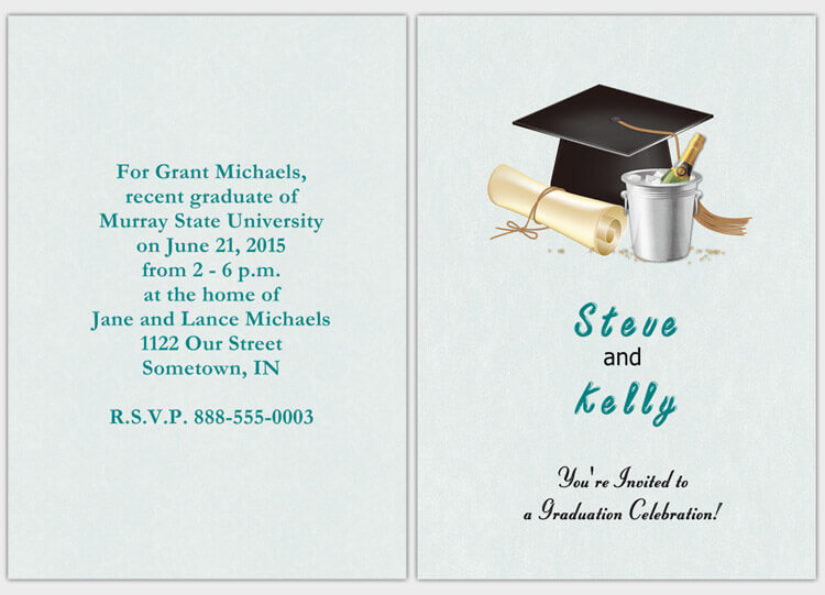 Design your own graduation party invitations graduation party invitationszip download stopboris Image collections