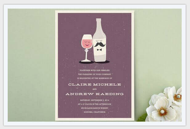 little wine charmers wedding invitations pic9