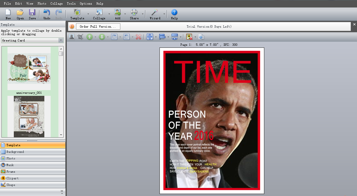 time magazine person of the year cover template - add your photo to make personalized magazine covers