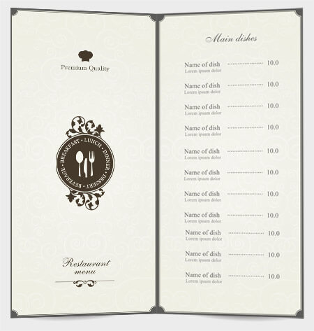 Make Your Restaurant Menu Design Elegant - AmoyShare