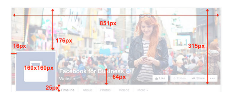 The latest social media image sizes facebook template