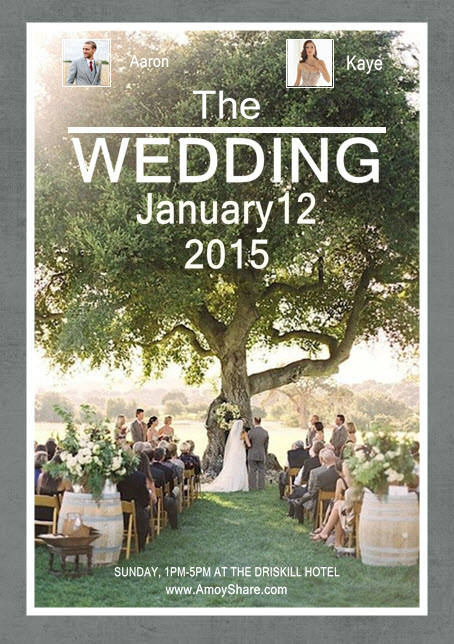 Design Your Stylish Wedding Poster by One Simple Collage Software