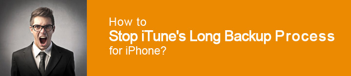 How to Stop iTune's Long Backup Process for iPhone?