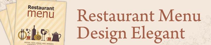 Make Your Restaurant Menu Design Elegant