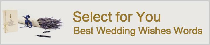 best wedding wishes words