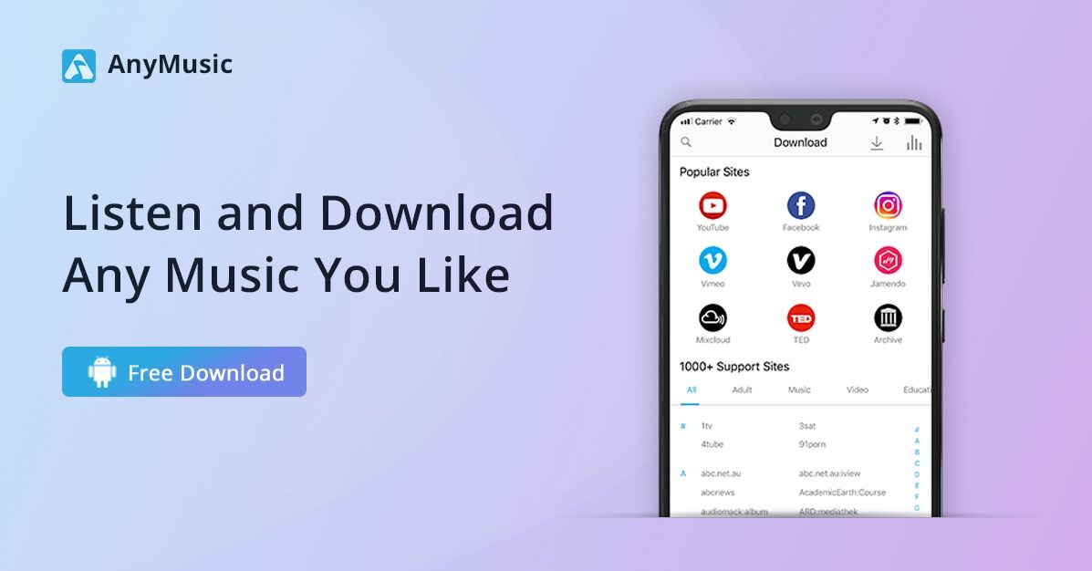 AnyMusic - Best Music Download App for Android & iPhone | AmoyShare