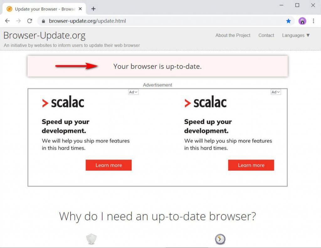 Controlla il tuo browser
