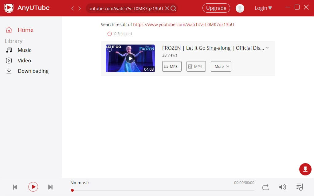 Starten Sie AnyUTube, um YouTube-Videos kostenlos herunterzuladen