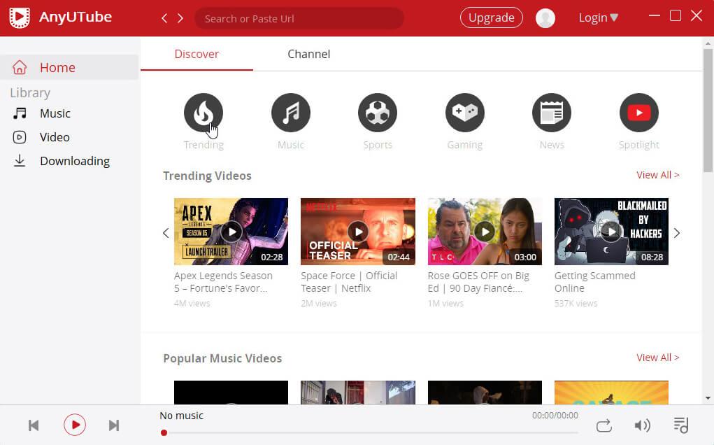 Besuchen Sie YouTube über AnyUTube