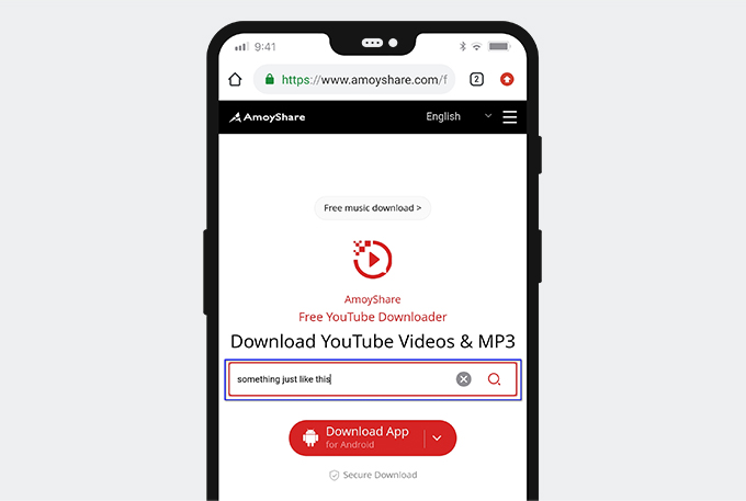 Search YouTube video on Android with AmoyShare YouTube Downloader