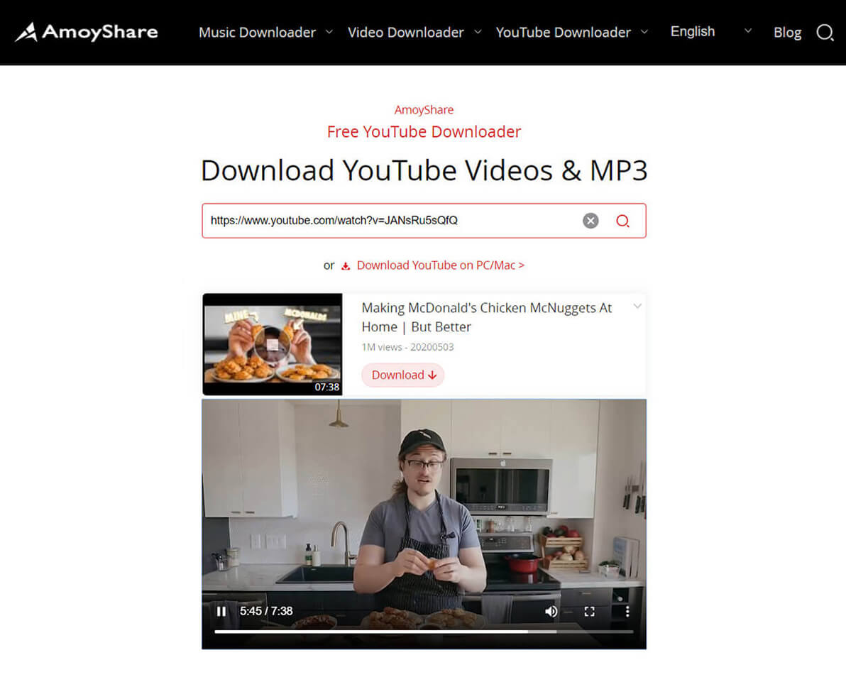 Vorschau von YouTube-Videos