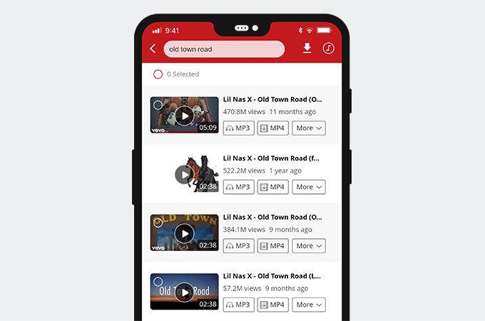 Video auf AnyUTube suchen