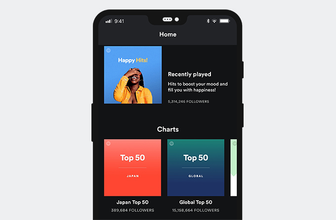 Spotify app interface