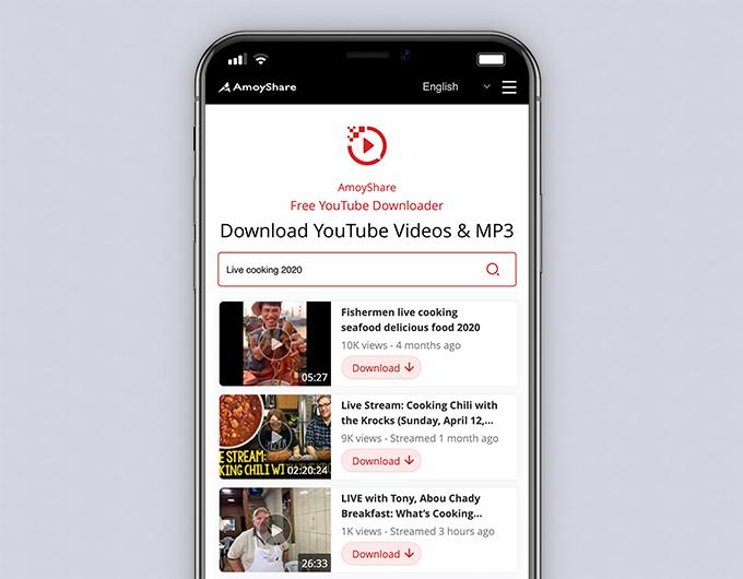 Geben Sie Schlüsselwörter für Live-Streaming-Videos ein