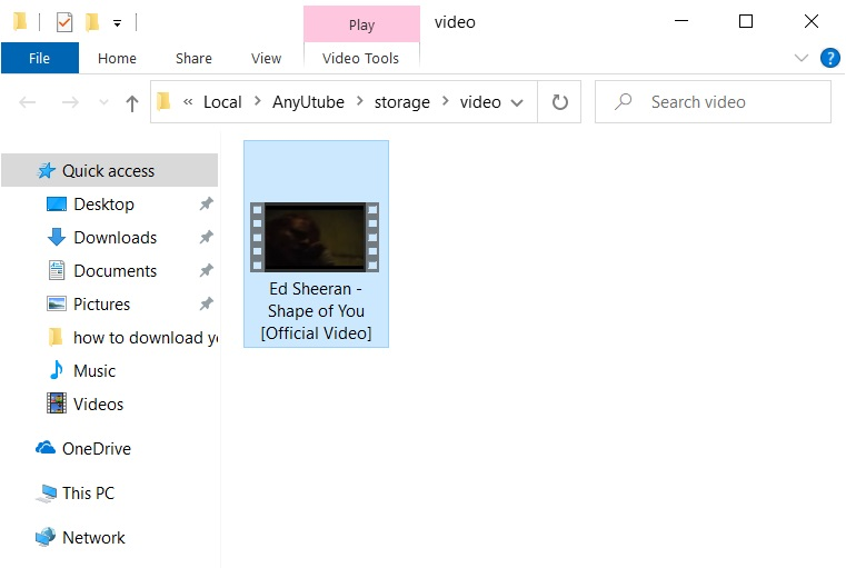 Downloaded file copied from local